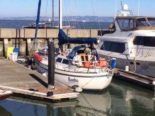 Sonho at the Pier 39 Marina. Photo by HBS.