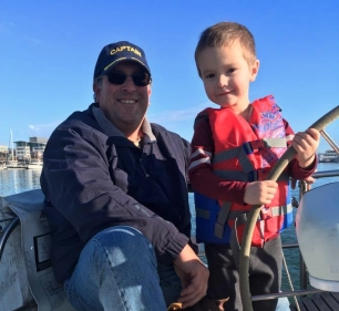 Captain Cody at the helm!