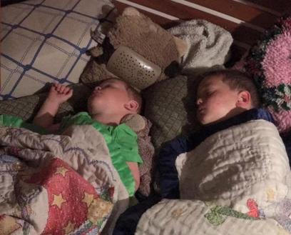 They sleep soooo good on Sonho!