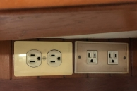 One of the few sets of original outlets.