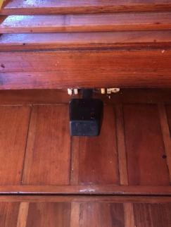 Galley (kitchen) water foot pump.