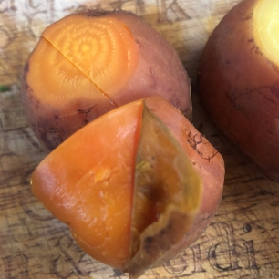 Golden Beets Post Roasting